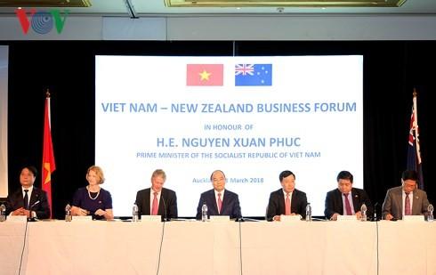 Premierminister Nguyen Xuan Phuc nimmt an Vietnam-Neuseeland-Unternehmensforum teil - ảnh 1