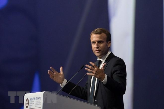 Frankreichs Präsident kritisiert die USA, Wirtschaftlichen Nationalismus zu schaffen - ảnh 1