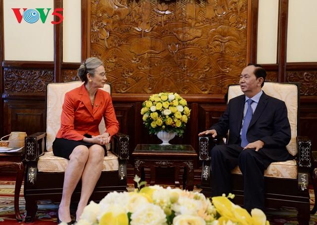 Staatspräsident Tran Dai Quang trifft Botschafter aus Großbritannien und Niederlanden - ảnh 1
