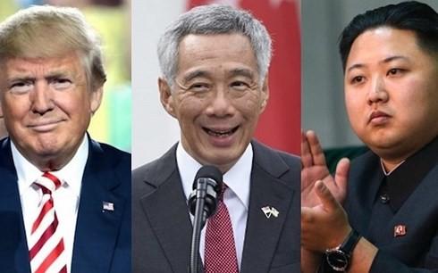 Singapurs Premierminister trifft Staatschefs Nordkoreas und der USA vor dem Gipfel beider Länder - ảnh 1