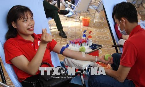 Rote Fahrt 2018 und Feierlichkeiten zum Weltblutspendetag - ảnh 1