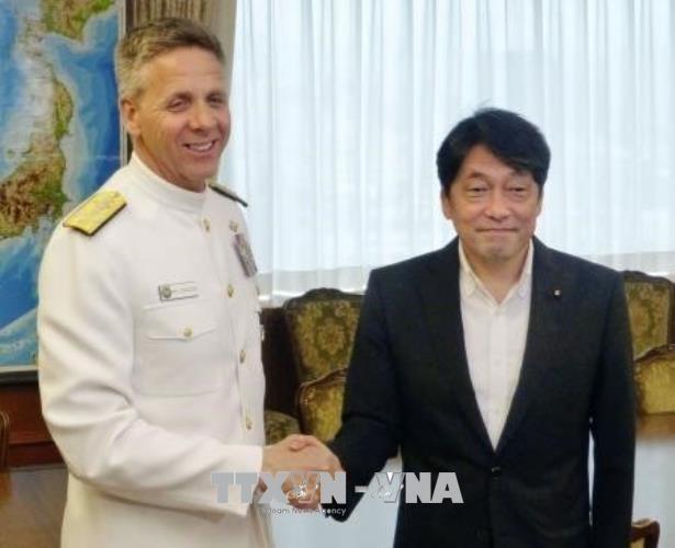 US-Admiral verpflichtet sich zum Schutz Japans nach Streichen gemeinsamer Manöver mit Südkorea - ảnh 1