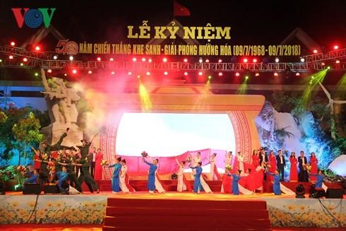 Quang Tri feiert 50 Jahre des Sieges in Khe Sanh - ảnh 1