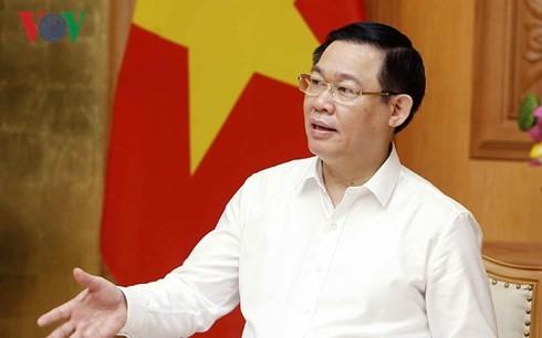 Vizepremierminister Vuong Dinh Hue leitet die Sitzung des Stabs für Unternehmenssanierung - ảnh 1