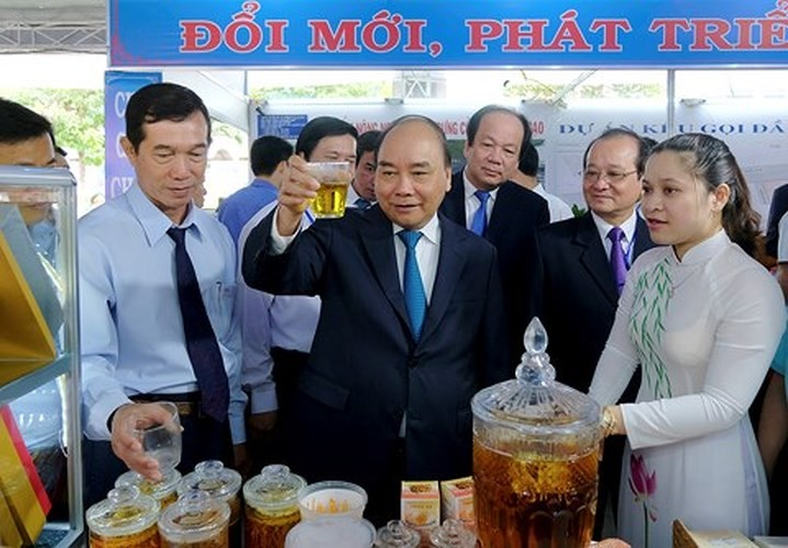Premierminister Nguyen Xuan Phuc tagt mit Leitung der Provinz Tien Giang - ảnh 1
