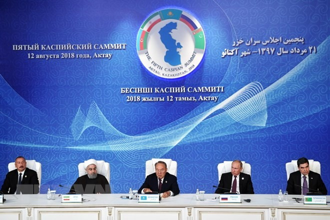 Fünf Staaten unterzeichnen Abkommen über Status des Kaspischen Meeres - ảnh 1