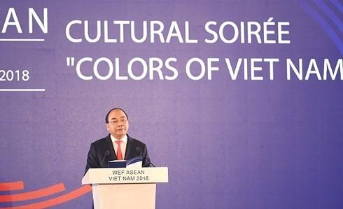 Premierminister Nguyen Xuan Phuc und seine Gattin geben Galadiner zur Werbung für vietnamesische Kultur - ảnh 1