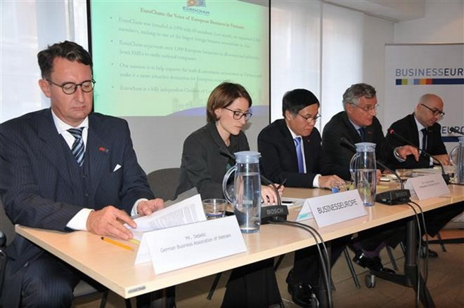 EU-Unternehmen unterstützen EU-Vietnam-Freihandelsabkommen - ảnh 1