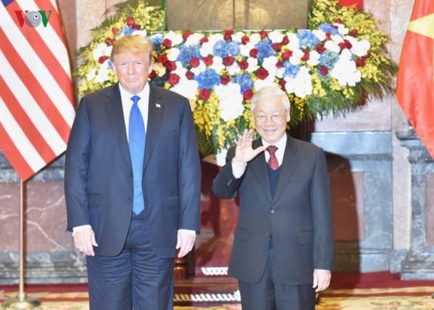 Vietnams Spitzenpolitiker empfangen US-Präsidenten Donald Trump - ảnh 2