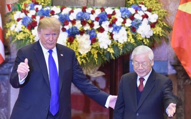 Vietnams Spitzenpolitiker empfangen US-Präsidenten Donald Trump - ảnh 3