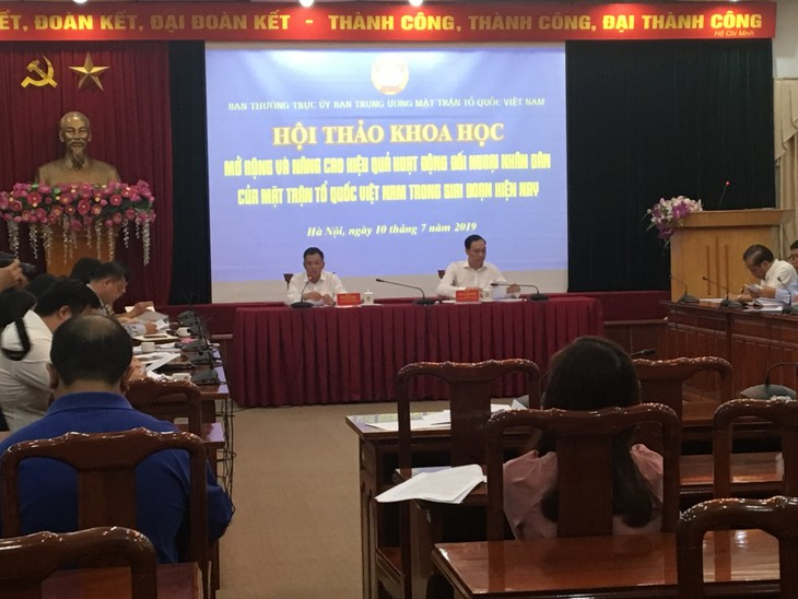 Internationale Beziehungen durch die Vaterländische Front Vietnams verbessert - ảnh 1
