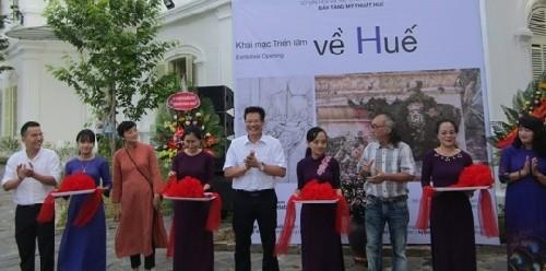 Kunstausstellung im Kunstzentrum Diem Phung Thi in Hue - ảnh 1