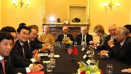 Aktivitas Presiden Vietnam, Truong Tan Sang dalam kunjungan resmi di Amerika Serikat - ảnh 1