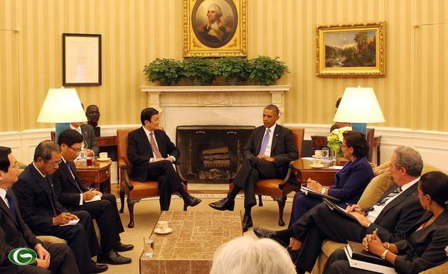 Pembicaraan tingkat tinggi menegakkan hubungan Kemitraan komprehensif Vietnam-Amerika Serikat - ảnh 1