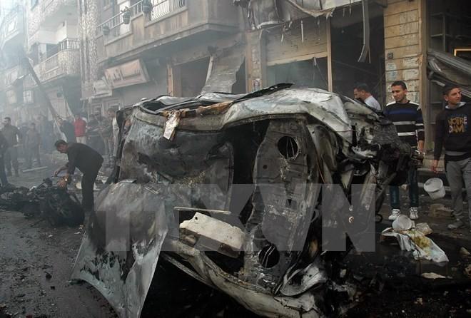 IS melakukan serangan bom terhadap gereja Kristen di Suriah - ảnh 1