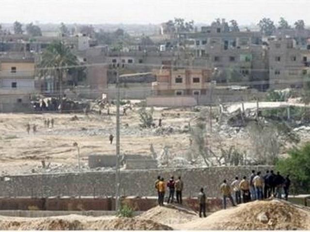 Mesir terus memperluas daerah penyangga keamanan yang berbatasan dengan Jalur Gaza - ảnh 1