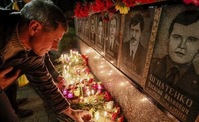 Ukraina memperingati ultah ke-29 terjadinya musibah nuklir Chernobyl - ảnh 1