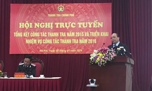 Deputi PM Vietnam, Nguyen Xuan Phuc menghadiri konferensi evaluasi dari instansi inspektorat - ảnh 1