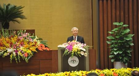 Rapat umum memperingati ultah ke-70 Hari Pemilu pertama MN Vietnam - ảnh 1