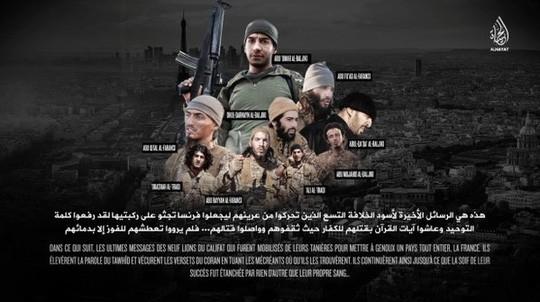 IS mengumumkan video para pelaku utama serangan teror di Perancis - ảnh 1