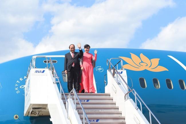 PM Vietnam, Nguyen Xuan Phuc tiba di kota Tokyo, Jepang - ảnh 1