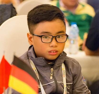 Catur Vietnam meraih medali di kejuaraan catur anak-anak dunia 2017 - ảnh 1