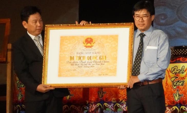 """Acara penerimaan Piagam Pengakuan Situs peninggalan sejarah nasional """"Dinh Tran Thanh Chiem"""" - ảnh 1"""