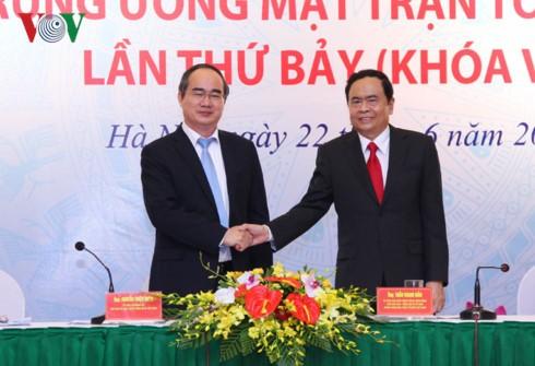 Tran Thanh Man ditugasi oleh musyawarah memegang jabatan Ketua Pengurus Besar Front  angkatan VIII Tanah Air Vietnam - ảnh 1