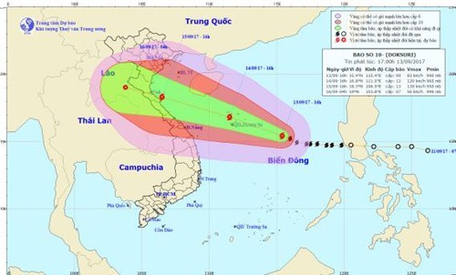 Daerah-daerah di Vietnam menggelarkan langkah-langkah darurat untuk menghadapi taufan Doksuri - ảnh 1
