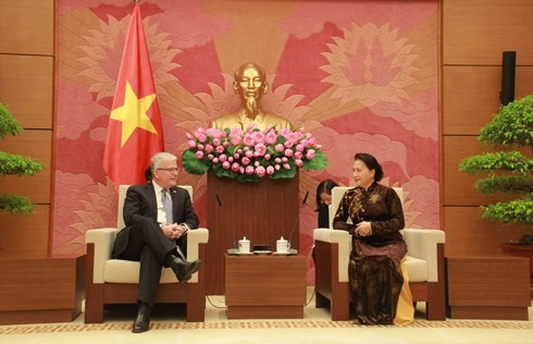 Ketua MN Vietnam, Ibu Nguyen Thi Kim Ngan menerima Dubes Australia - ảnh 1