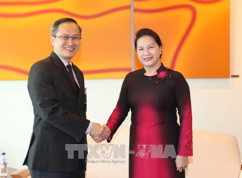 Ketua MN Vietnam, Nguyen Thi Kim Ngan memulai kunjungan resmi di Singapura - ảnh 1