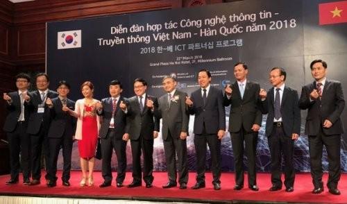 Badan usaha teknologi, informasi dan komunikasi Vietnam dan Republik Korea menandatangani 4 permufakatan kerjasama - ảnh 1