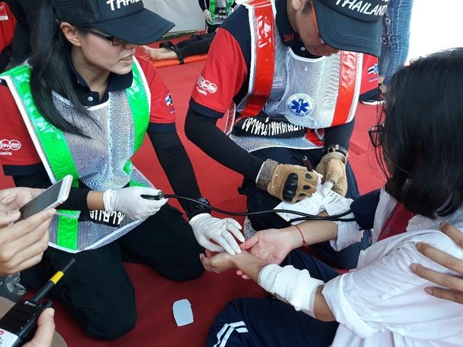 Lebih dari 300 personil kesehatan ASEAN ikut serta dalam latihan menghadapi supra taufan - ảnh 1