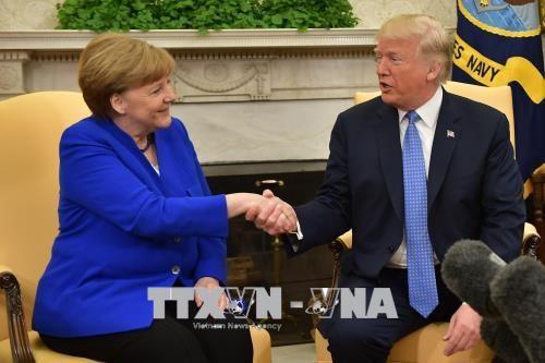 Kanselir Jerman melakukan pembicaraan dengan Presiden AS - ảnh 1