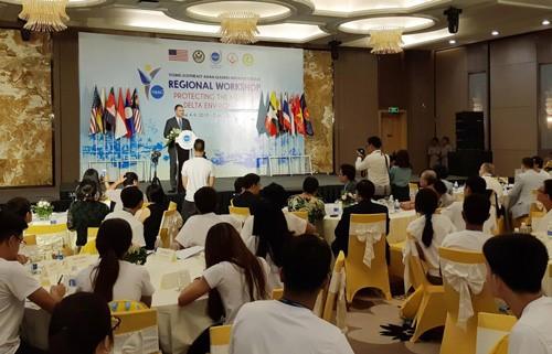 Sebanyak 120 pemimpin muda Asia Tenggara memberikan sumbangan pendapat untuk melindungi lingkungan Daerah Dataran Rendah Sungai Mekong - ảnh 1