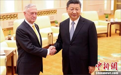 Presiden Tiongkok, Xi Jinping menerima Menhan AS, James Mattis - ảnh 1