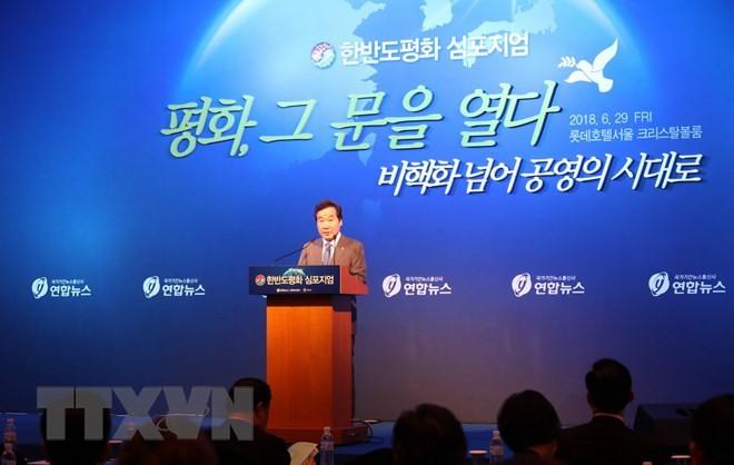 Lokakarya tentang perdamaian di Semenanjung Korea - ảnh 1