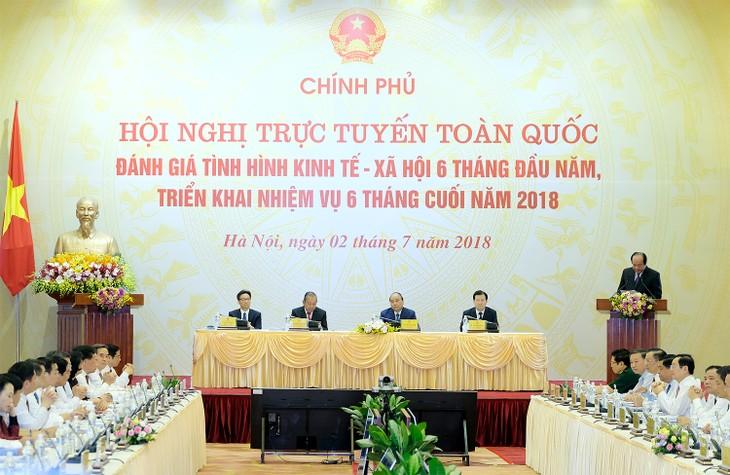Sosial-ekonomi Viet Nam mengalami perubahan secara positif dan berkembang secara komprehensif pada 6 bulan awal tahun - ảnh 1