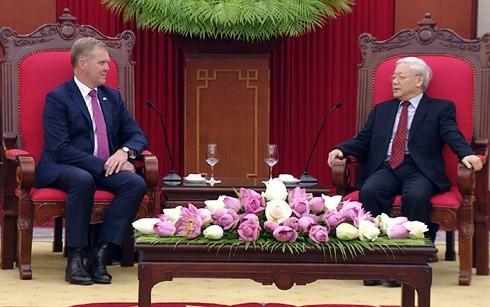Sekjek KS PKV, Nguyen Phu Trong menerima Ketua Majelis Rendah Australia, Tony Smith - ảnh 1