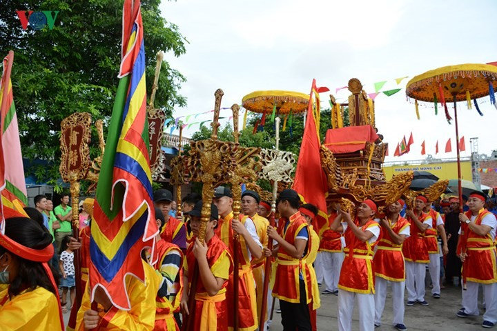 Aspek budaya yang unik di  pesta Kuil Desa Tra Co - ảnh 1
