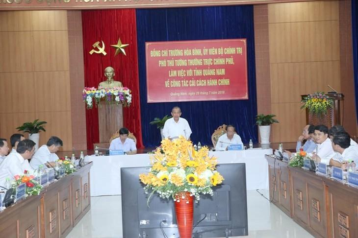 Deputi Harian PM Viet Nam, Truong Hoa Binh melakukan kunjungan kerja di Provinsi Quang Nam - ảnh 1
