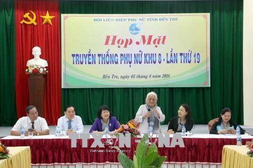 Wapres Viet Nam, Dang Thi Ngoc Thinh menghadiri pertemuan wanita Zona 8 - ảnh 1