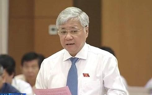 Komite Tetap MN Viet Nam mengadakan acara interpelasi terhadap Menteri, Kepala Komisi urusan Etnis, Do Van Chien - ảnh 1