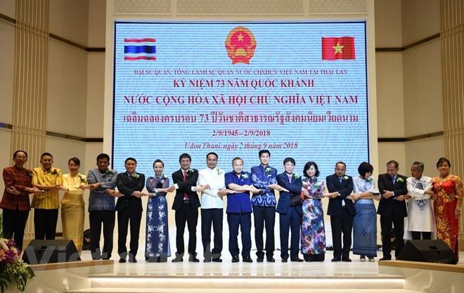 Memperingati ultah ke-73 Hari Nasional Viet Nam di Thailand dan Jerman - ảnh 1