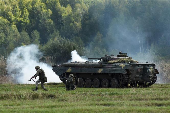 Ukraina mengadakan latihan perang gabungan dengan NATO - ảnh 1