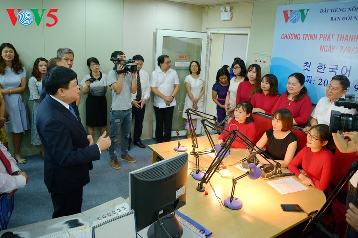 VOV meluncurkan Program Siaran Bahasa Korea - ảnh 1