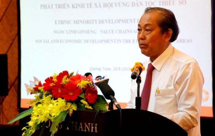 Mendorong pengembangan daerah pemukiman warga etnis minoritas dan daerah pegunungan tahap pasca tahun 2020 - ảnh 1