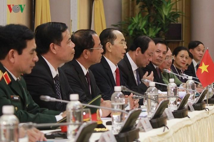 Panorama kunjungan Kenegaraan Presiden Indonesia, Joko Widodo di Viet Nam - ảnh 7