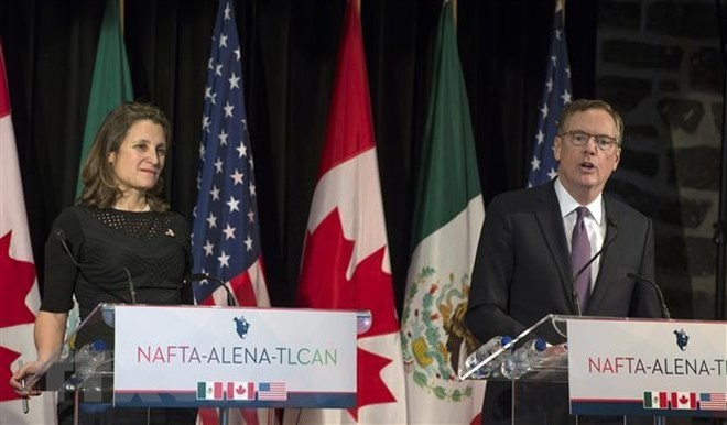 AS dan Meksiko bersedia menandatangani NAFTA baru tanpa ada Kanada - ảnh 1