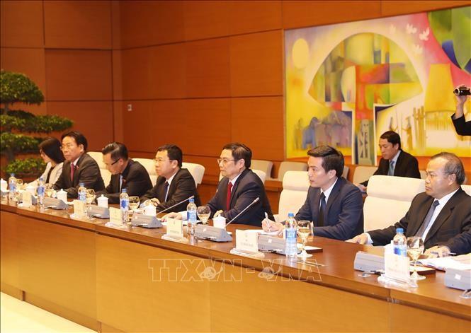 Kepala Departemen Organisasi KS PKV, Pham Minh Chinh menerima Utusan Khusus PM Jepang - ảnh 1